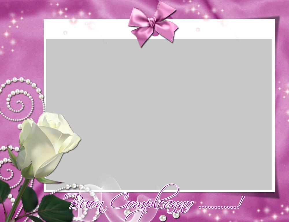 Cartoline personalizzate di compleanno - Buon Compleanno ...! - Cornice foto di Compleanno
