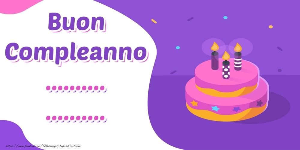 Cartoline personalizzate di compleanno - Buon Compleanno ... ...!