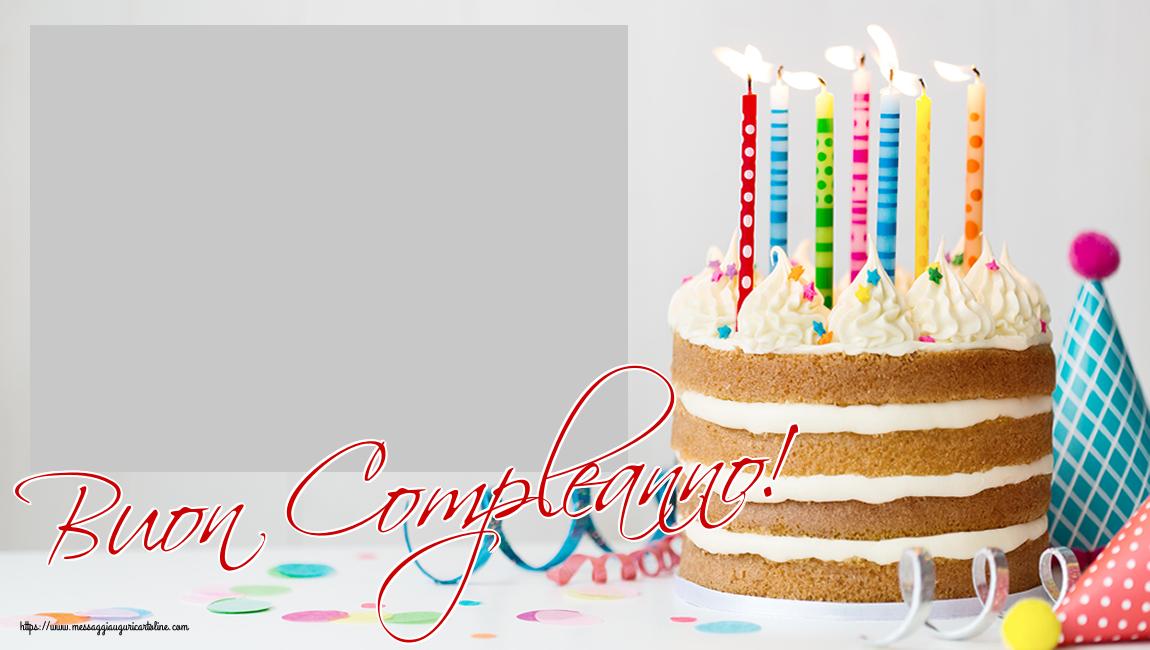 Cartoline personalizzate di compleanno - Buon Compleanno! - Cornice foto di Compleanno