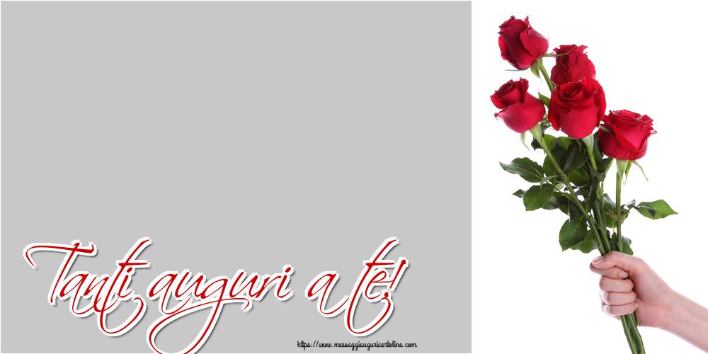 Cartoline personalizzate di compleanno - Tanti auguri a te! - Cornice foto