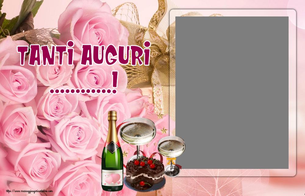 Cartoline personalizzate di compleanno - Tanti Auguri ...! - Cornice foto