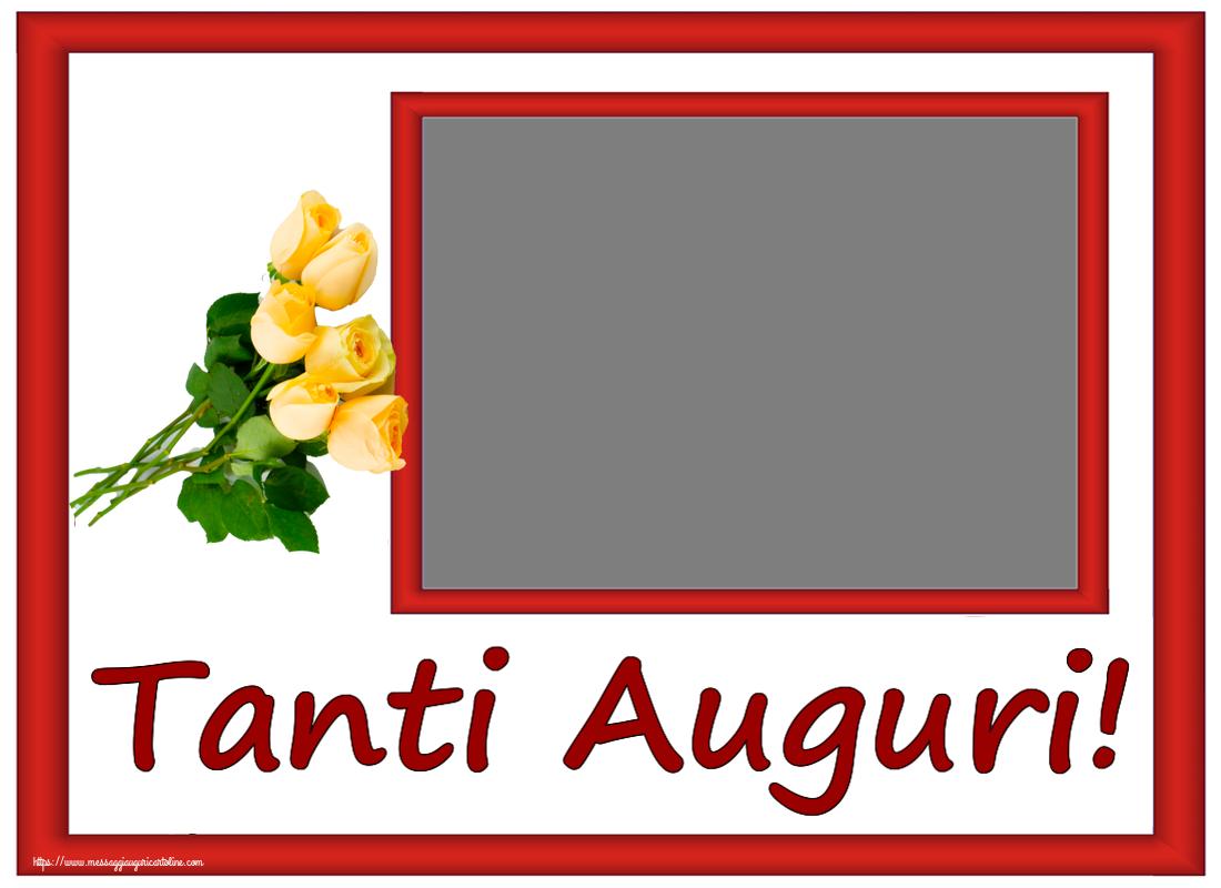 Cartoline personalizzate di compleanno - Tanti Auguri! - Cornice foto