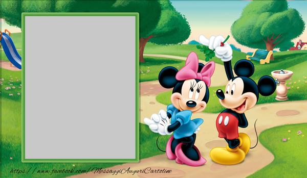 Cartoline personalizzate con foto - Minnie and Mickey Mouse