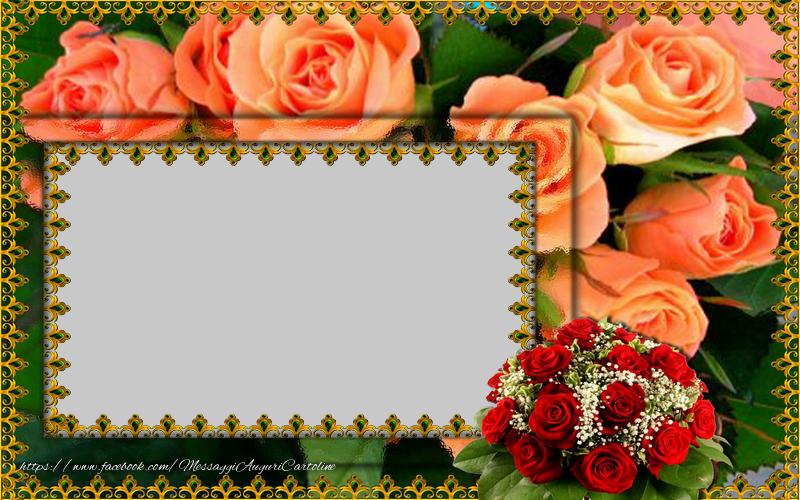 Cartoline personalizzate con foto - Cartolina personalizzata con fiori