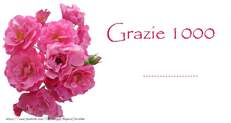 Cartoline personalizzate di grazie - GRAZIE 1000 ...