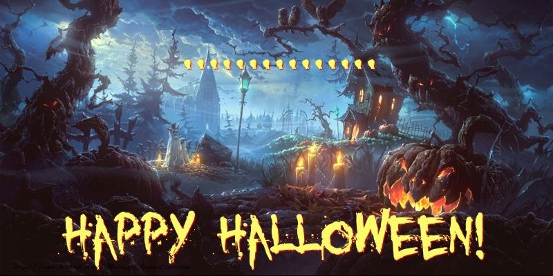 Cartoline personalizzate di Halloween - ... Happy Halloween!