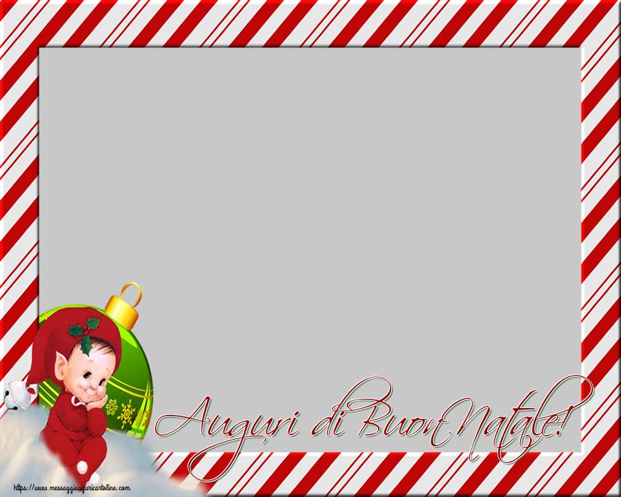 Cartoline personalizzate di Natale - Auguri di Buon Natale! - Cornice foto di Natale