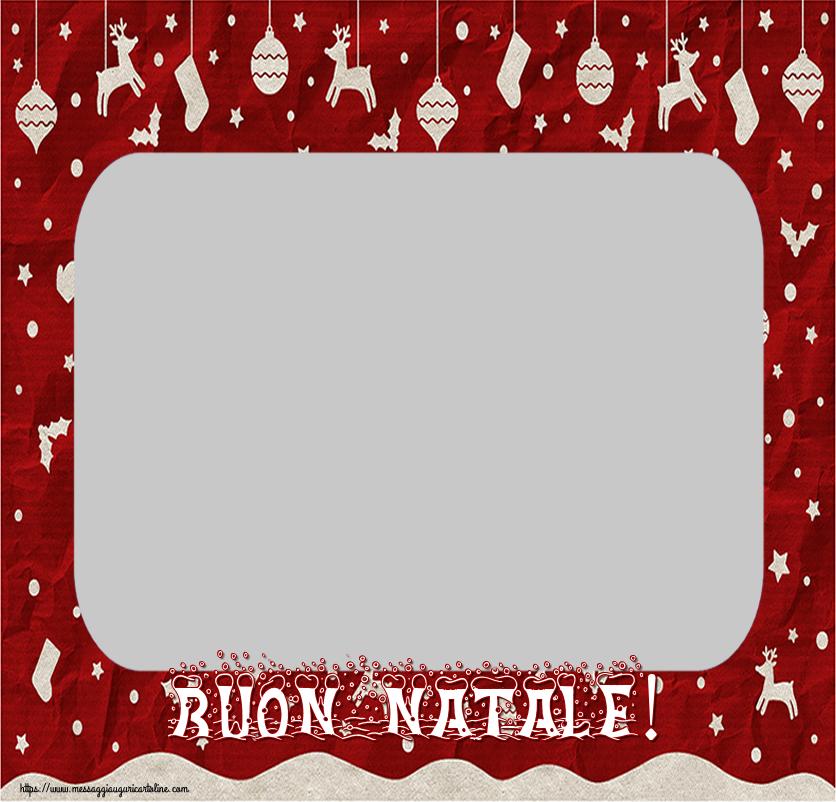 Cartoline personalizzate di Natale - Buon Natale! - Cornice foto di Natale