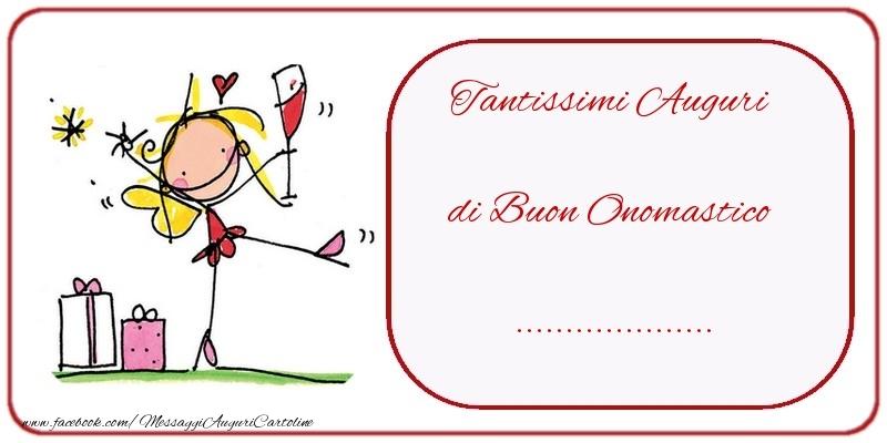 Cartoline personalizzate di onomastico - Tantissimi Auguri di Buon Onomastico ...