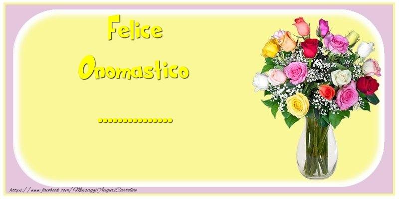 Cartoline personalizzate di onomastico - Felice Onomastico ...
