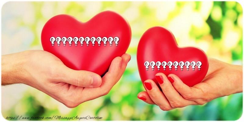 Cartoline personalizzate di San Valentino - Due cuori con nomi ... ...