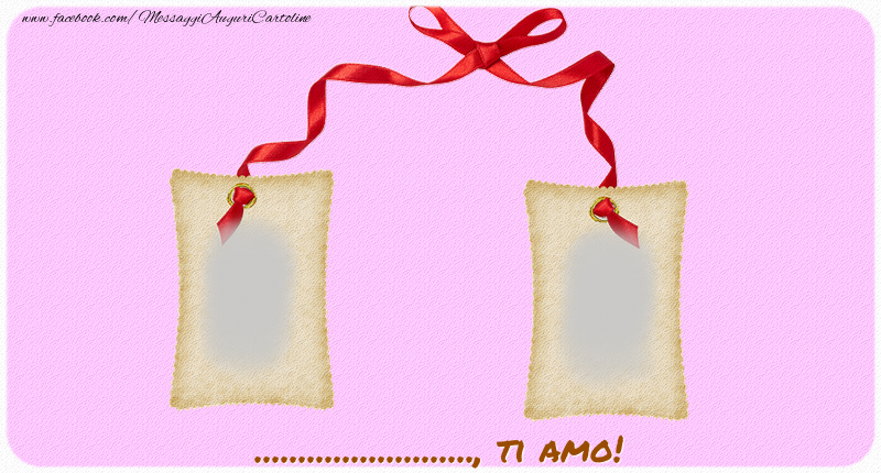 Cartoline personalizzate di San Valentino - Ti amo, ...!