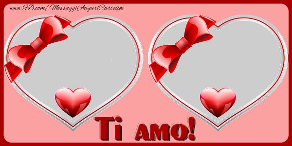 Cartoline personalizzate di San Valentino - Ti amo!