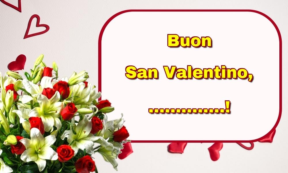 Cartoline personalizzate di San Valentino - Buon San Valentino, ...!