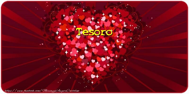 Cartoline d'amore per Fidanzato - Tesoro