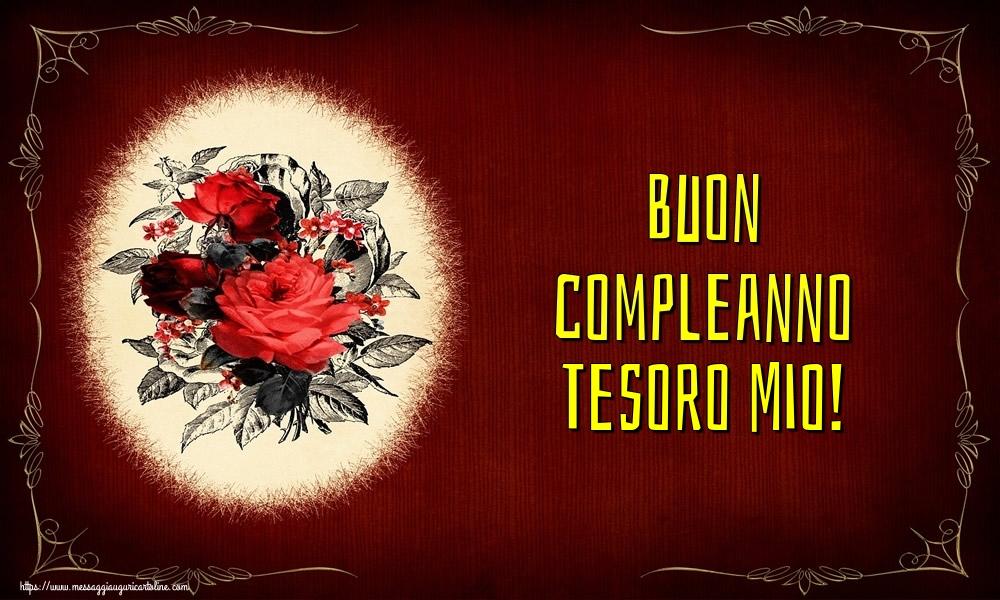 Cartoline di auguri per Moglie - Buon compleanno tesoro mio!