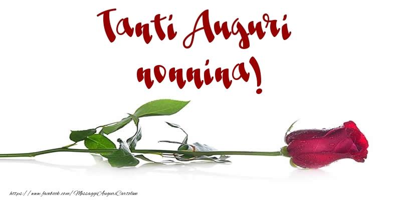 Cartoline di auguri per Nonna - Tanti Auguri nonnina!