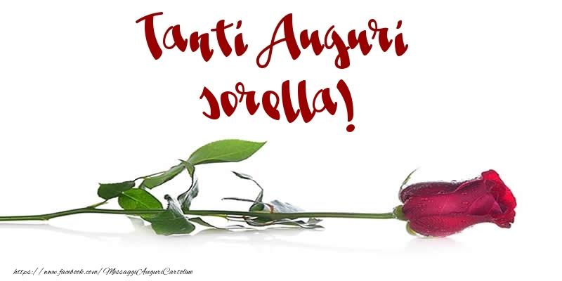 Super Cartoline di auguri per Sorella - Tanti Auguri sorella  WG42