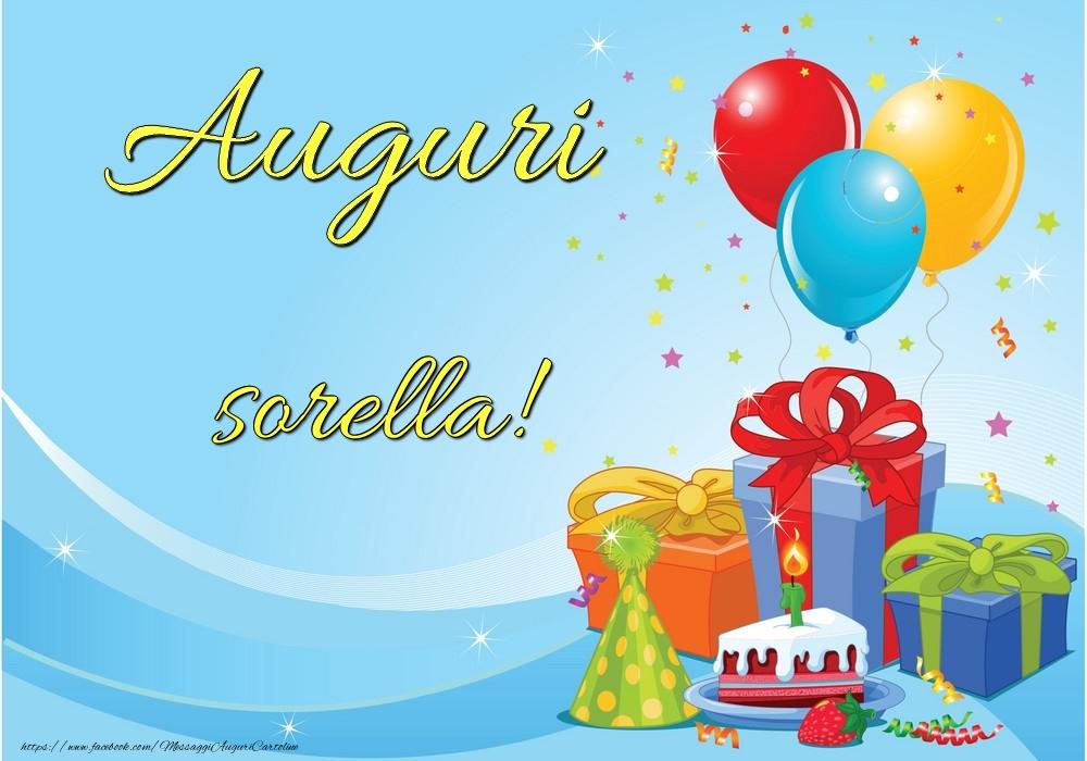 Cartoline di auguri per Sorella - Auguri sorella!