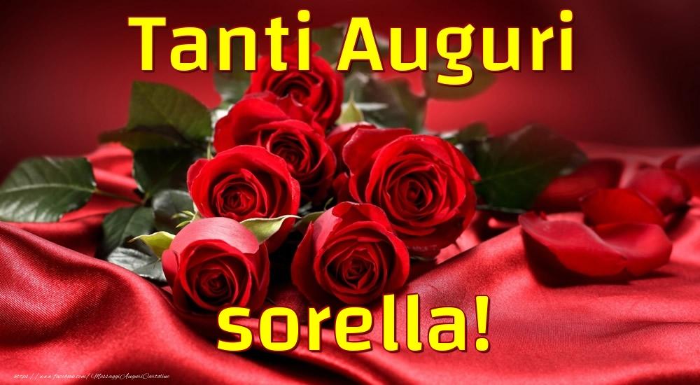 Cartoline di auguri per Sorella - Tanti Auguri sorella!