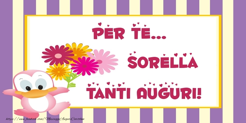 Popolare Cartoline di auguri per Sorella - Pentru te sorella Tanti  NK92