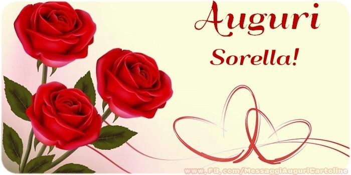 Estremamente Cartoline di auguri per Sorella - Buon compleanno sorellina  CO99