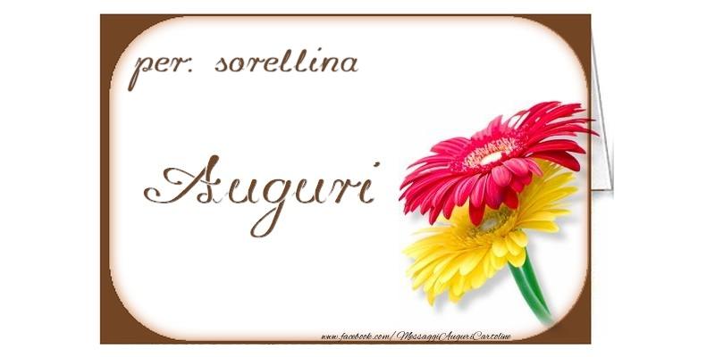 Cartoline di auguri per Sorella - Auguri, sorellina