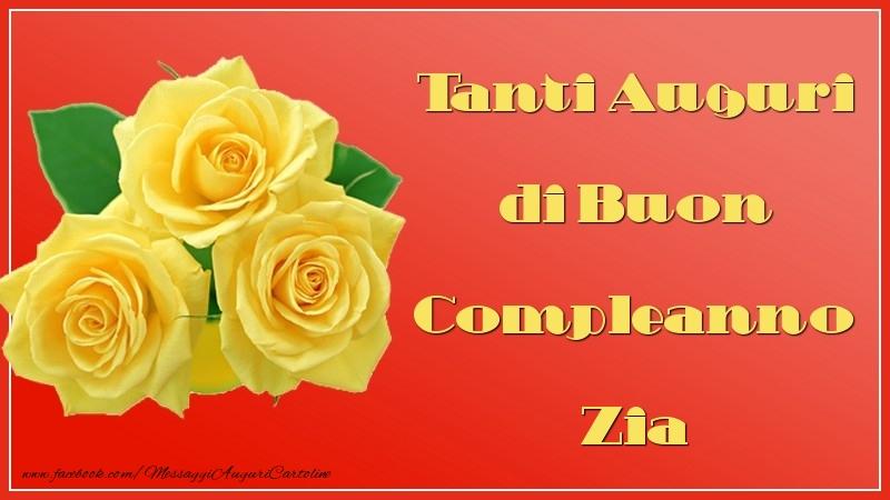 Famoso Cartoline di auguri per Zia - Tanti Auguri di Buon Compleanno zia  WT55
