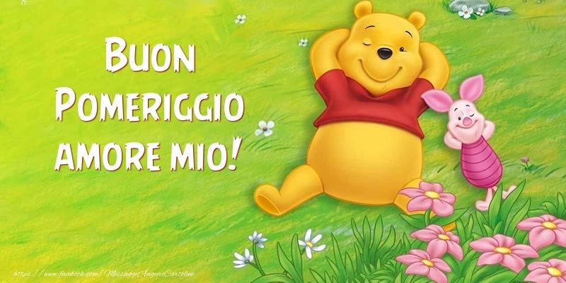 Célèbre Cartoline di buon pomeriggio per Marito - Buon Pomeriggio amore  MQ15