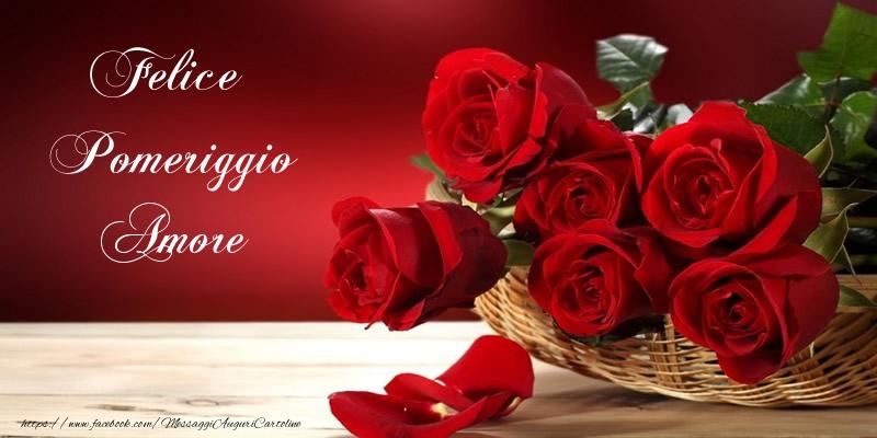 Célèbre Cartoline di buon pomeriggio per Moglie - Felice Pomeriggio amore  MQ15