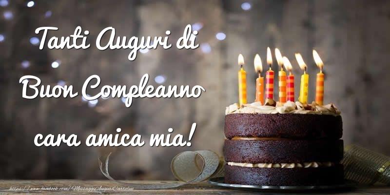 Connu Auguri Di Buon Compleanno Amica. Biglietti Da Stampare Correlati  PE39