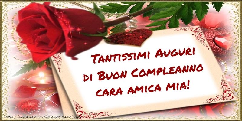 Popolare Cartoline di compleanno per Amica - Tantissimi Auguri di Buon  ES44