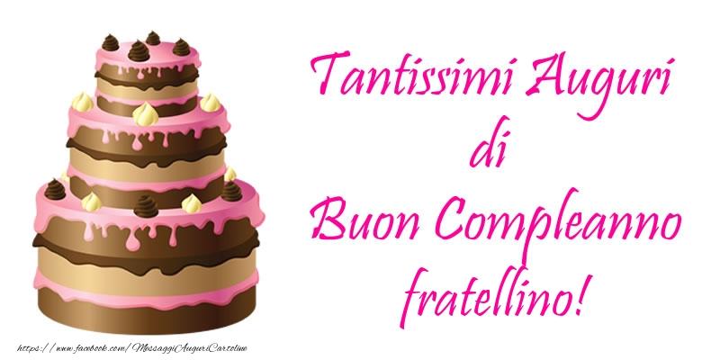 spesso Cartoline di compleanno per Fratello - Torta - Tantissimi Auguri  RW46