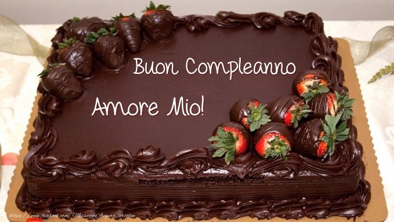 Cartoline di compleanno per Moglie - Buon Compleanno amore mio! - Torta