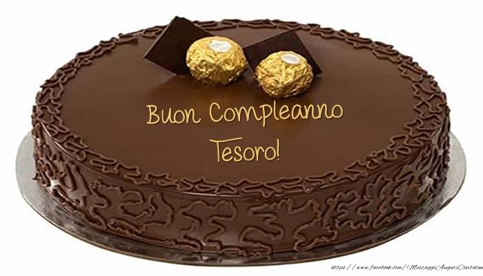 Cartoline di compleanno per Moglie - Torta - Buon Compleanno tesoro!