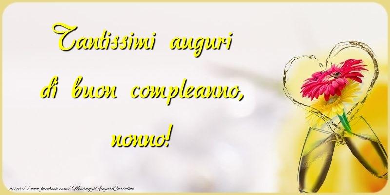 Très Cartoline di compleanno per Nonno - messaggiauguricartoline.com RV91