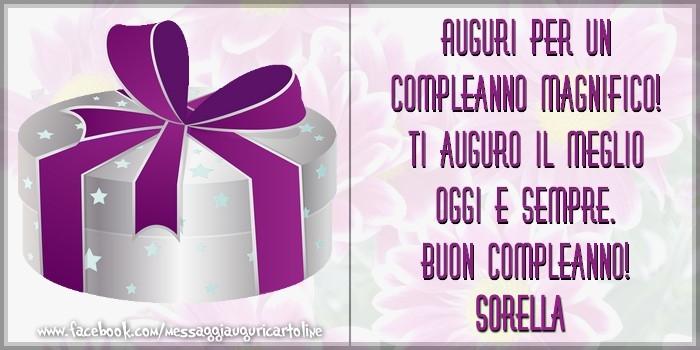 Preferenza Cartoline di compleanno per Sorella - Auguri per un compleanno  DE66