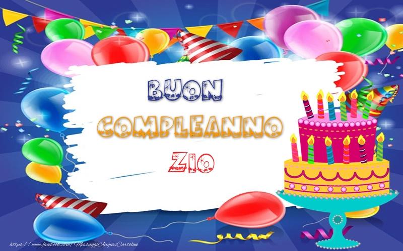 Estremamente Cartoline di compleanno per Zio - Torta - Tantissimi Auguri di  JB25
