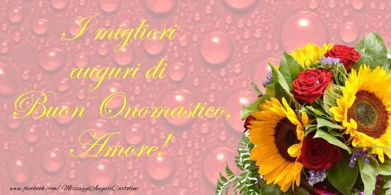 Cartoline di onomastico per Moglie - I migliori auguri di Buon Onomastico, amore