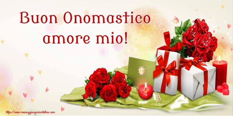 Cartoline di onomastico per Moglie - Buon Onomastico amore mio!