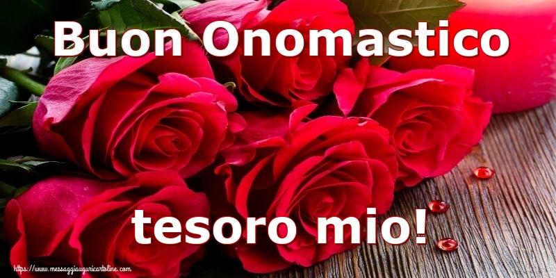 Cartoline di onomastico per Moglie - Buon Onomastico tesoro mio!