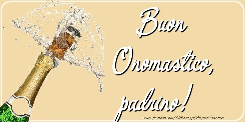 Cartoline di onomastico per Padrino - Buon Onomastico, padrino