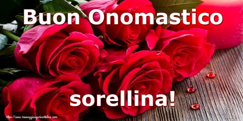 Cartoline di onomastico per Sorella - Buon Onomastico sorellina!