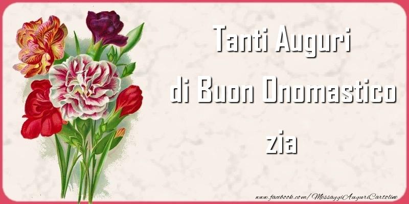Cartoline di onomastico per Zia - Tanti Auguri di Buon Onomastico zia