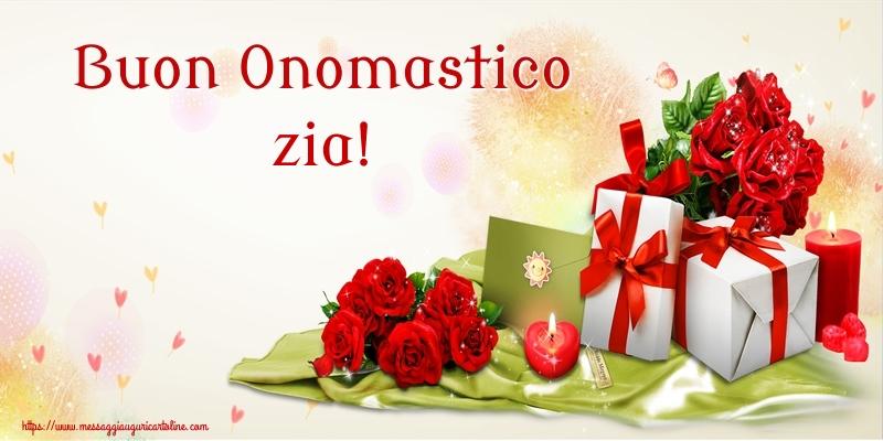 Cartoline di onomastico per Zia - Buon Onomastico zia!