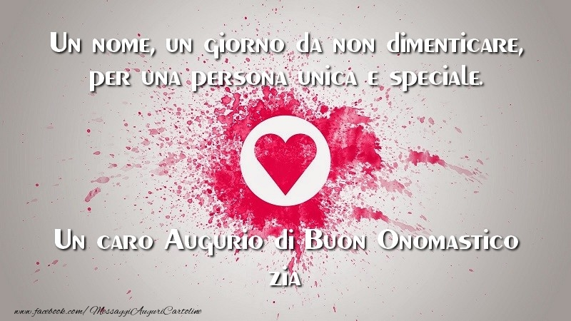 Top Cartoline di onomastico per Zia - Un caro Augurio di Buon  LR74