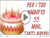 Cartoline musicali: Buon Compleanno 55 anni!