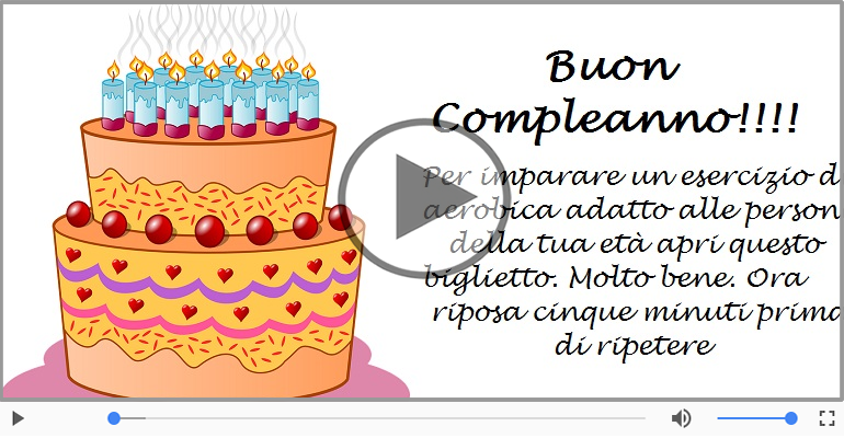 Eccezionale Tanti auguri di Buon Compleanno! - Cartoline musicali  YG58