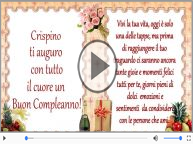 It's your birthday Crispino ... Buon Compleanno!