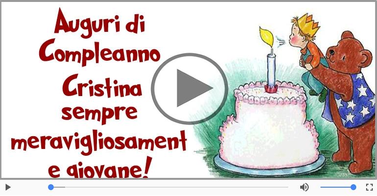 Happy Birthday Cristina Buon Compleanno Cristina Cartoline